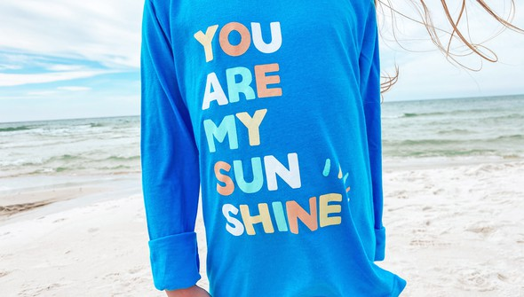 134235 you are my sunshine long sleeve tee kids 30a blue slider4 original