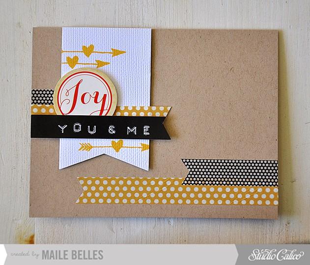 Joy card (scrapbook kit  card kit  add on 2 4)