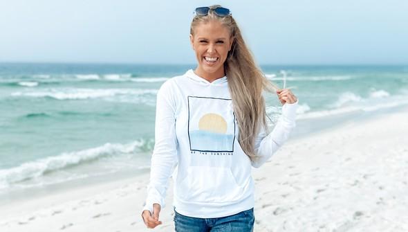 134425 be the sunshine pullover hoodie women white slider2 original