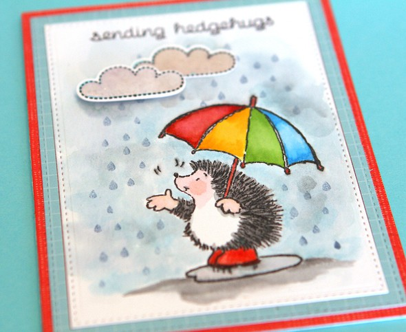 Sending hedgehugs two close up