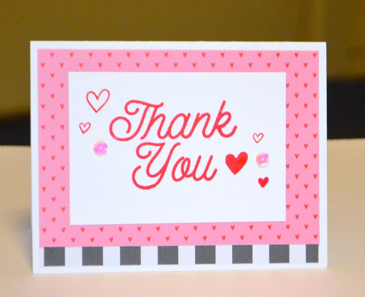 Layered thank you card original