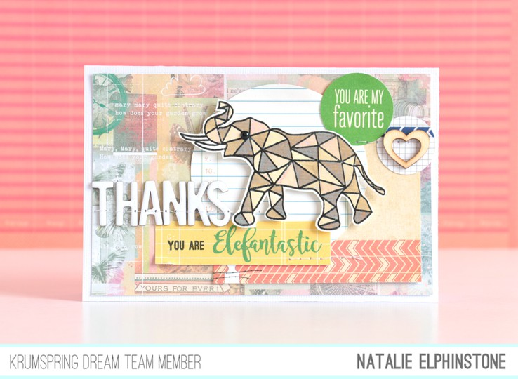Elephant card by natalie elphinstone original