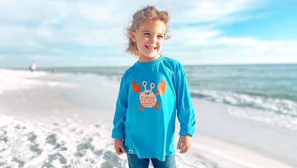 129028 crab long sleeve tee   kids   30a blue slider1 original