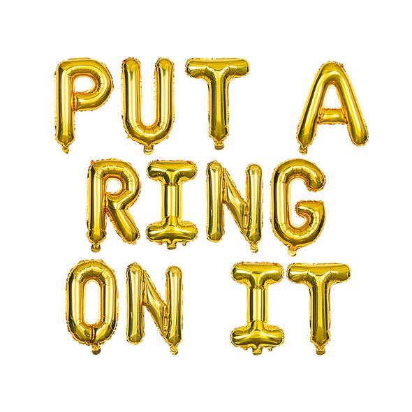 Sdiy shop balloons put a ring on it original