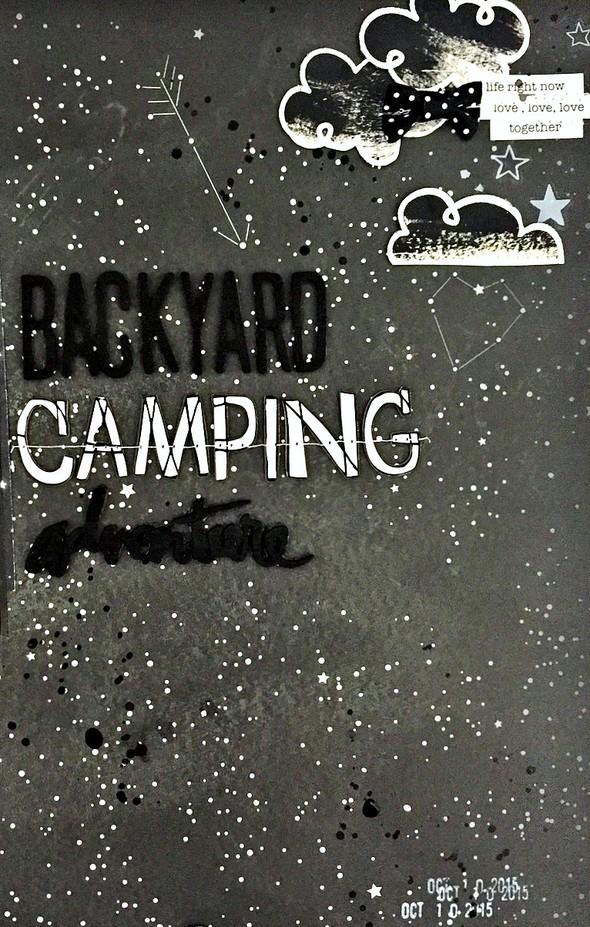 Backyard camping adventure layout   cu  clouds and title original