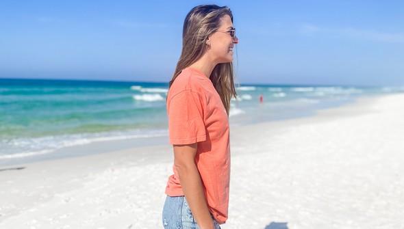 154063 simple beach happy comfort colors short sleeve tee women bright salmon slider3 original