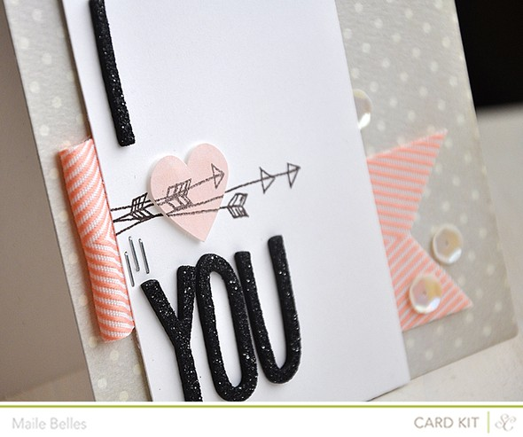 I heart you card detail (add on 3)