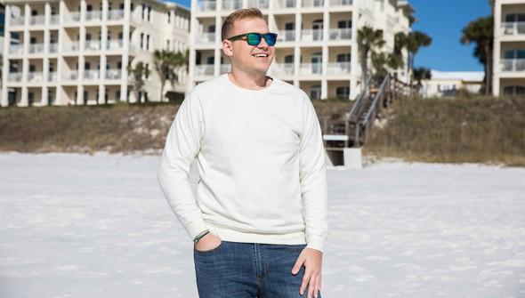 Basic crewsweatshirtmen creme slider1 original