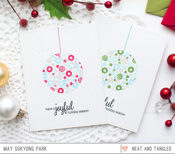Clean and simple christmas cards by may studio calico neat and tangled clean and simple christmas card 1 original m4hsunfo