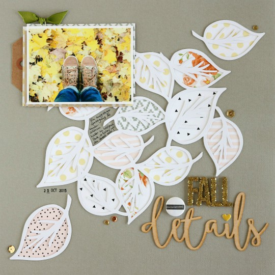 Fall details scrapbooking layout original