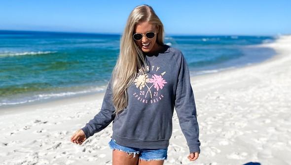 137636 spring break on 30a colorful crew sweatshirt women gray slider3 original