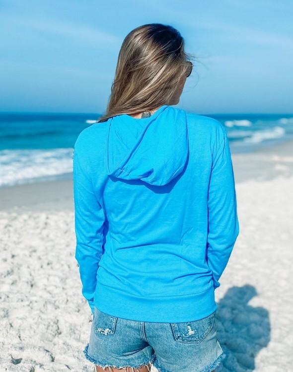 146351 simple beach happy pullover hoodie 30a blue women slider 6 original