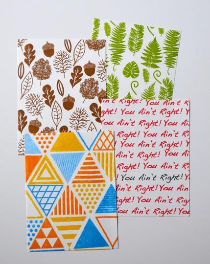 Patterned cards original