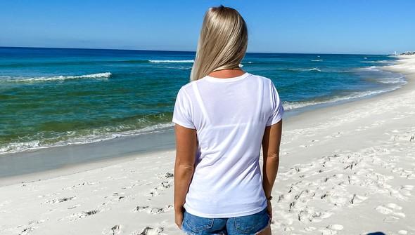 137671 keep our beach happy v neck tee women white slider4 original