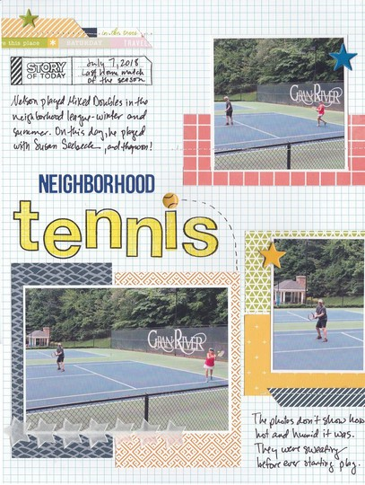 Neighborhood tennis original