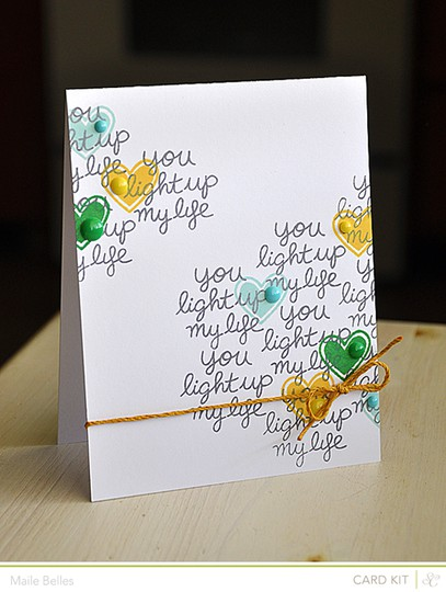 You light up my life hearts card (card kit   add on)