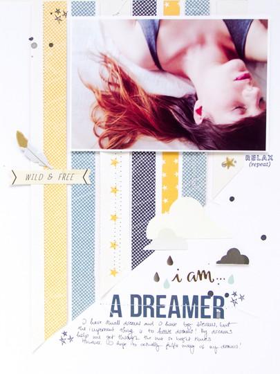 Dreamer scrapbooking layout scatteredconfetti gossamerblue july 1 original