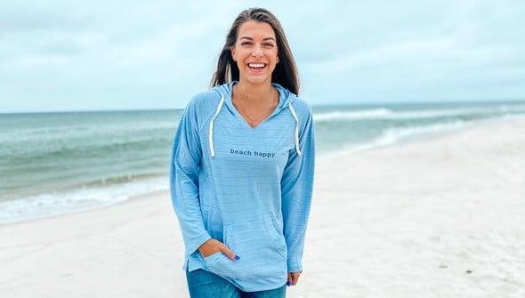 121783 simple beach happy french terry hoodie women dusty blue slider1 original