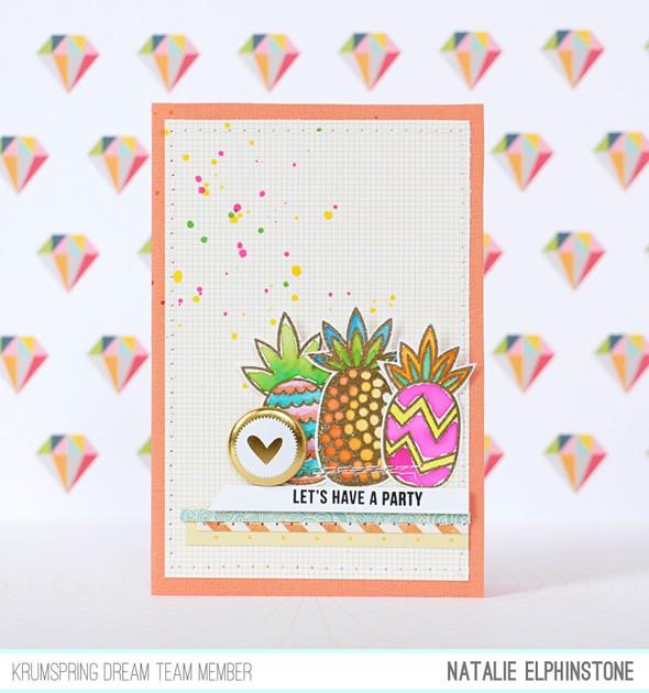 Pineapple card by natalie elphinstone original