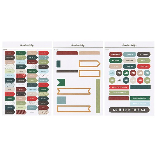 Picture of December Daily® 2021 Planner Sticker Sheet Bundle