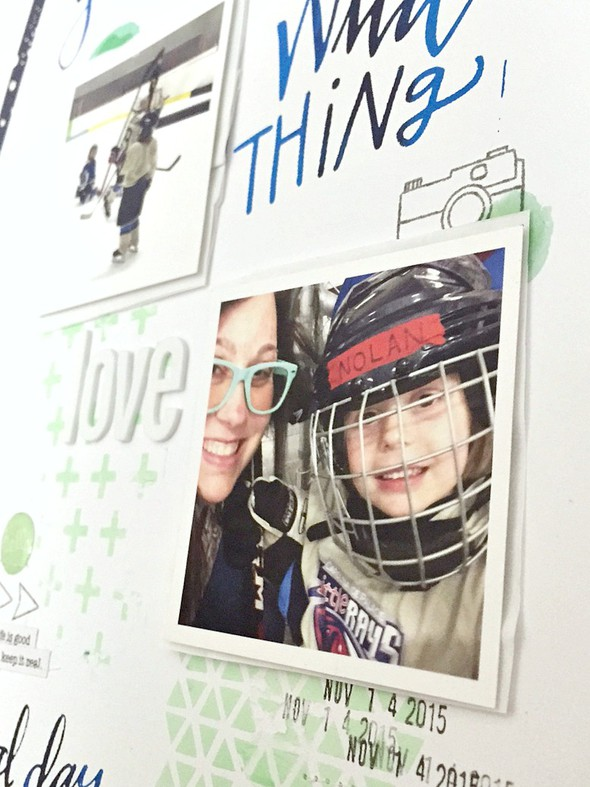 Love hockey layout   cu  photo and date original