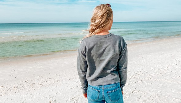 129083 pocket full of sunshine pocket slouch sweatshirt women gray slider5 original
