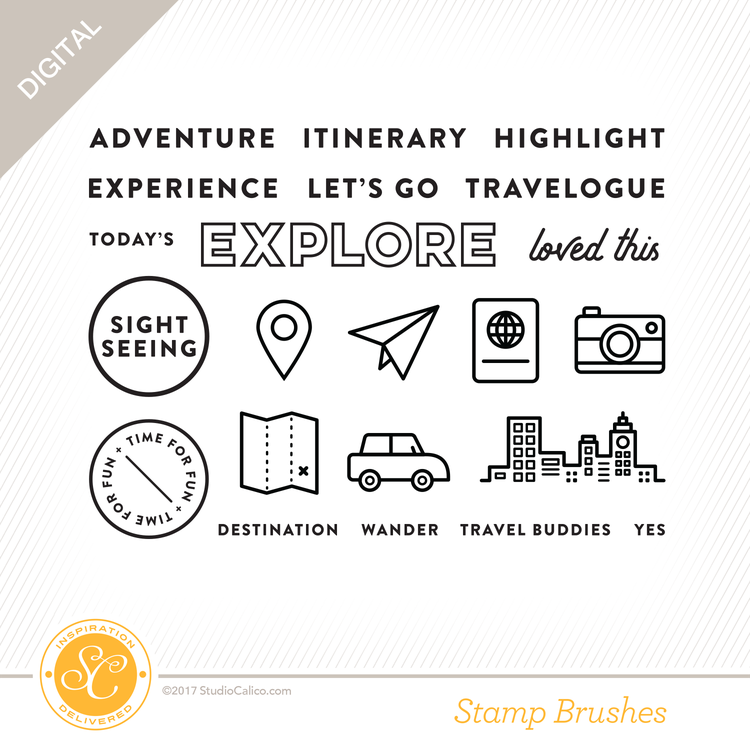 Written In The Stars Digital Stamp Travel Planner