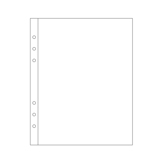 """Picture of 6x8"""" Page Protector 1A (6-ring)"""