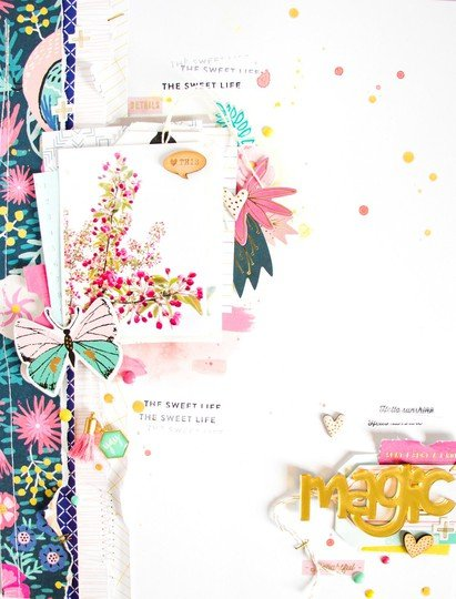 Magic scatteredconfetti scrapbooking layout cratepaper americancrafts 1 original