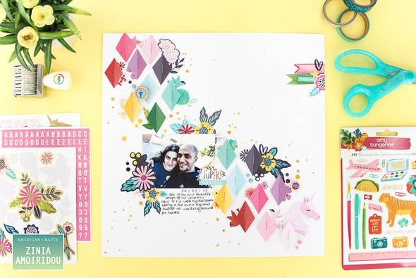 Americancrafts zinia stickerbooklayout glittergirl 06 original