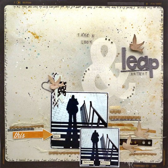 Ampersand stencil scrapbook frame leap year