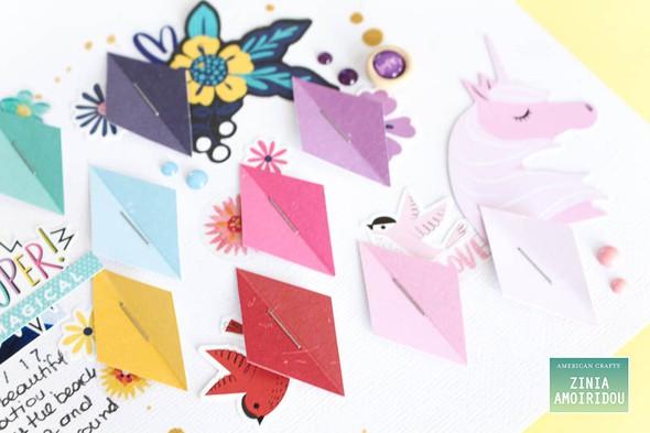 Americancrafts zinia stickerbooklayout glittergirl 01 original