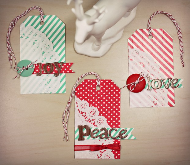 Joy peace love card holders