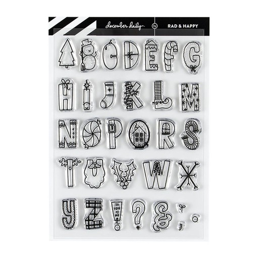 Picture of December Daily® 2019 Rad Tidings 6x8 Stamp Set by Rad & Happy