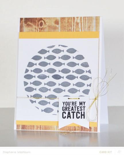 Card kit catch fish