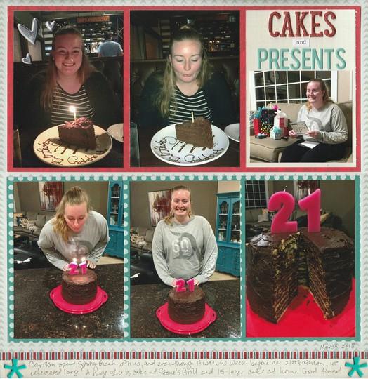 Cakes and presents original