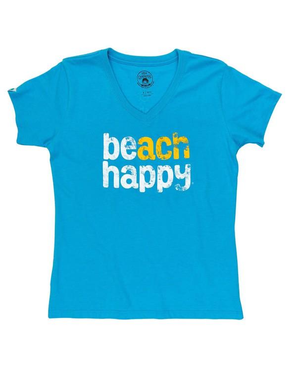 108537 beachhappyshortsleevev necktee30ablue women slider3 original
