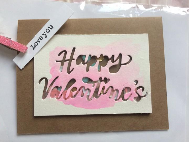 Watercolor valentine card original