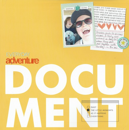 Everyday adventure document original