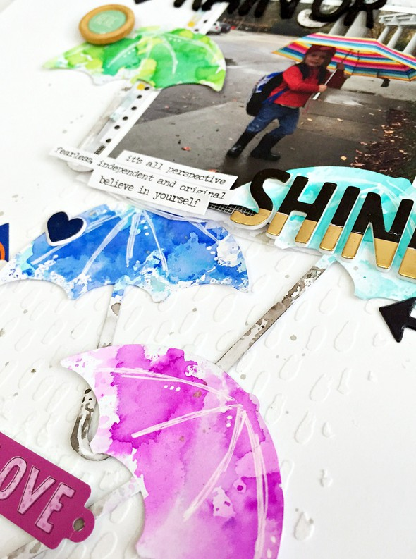 Rain or shine layout   cu texture and watercolor original
