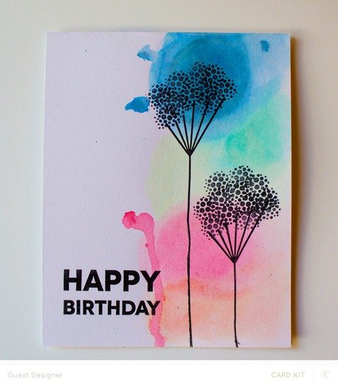 Water color happy birthday