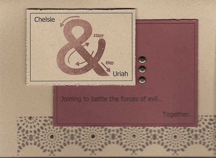 Battle evil card