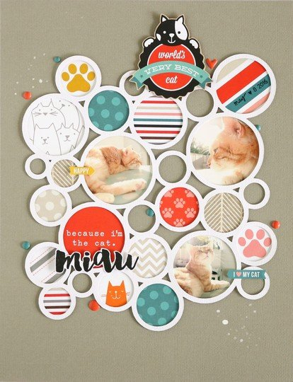 Miau scrapbooking layout 1 original