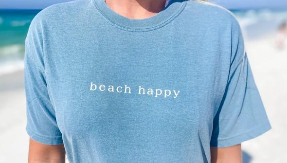 154123 simple beach happy comfort colors short sleeve tee women ice blue slider2 %25281%2529 original