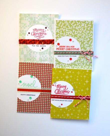 Circle cut christmas cards original