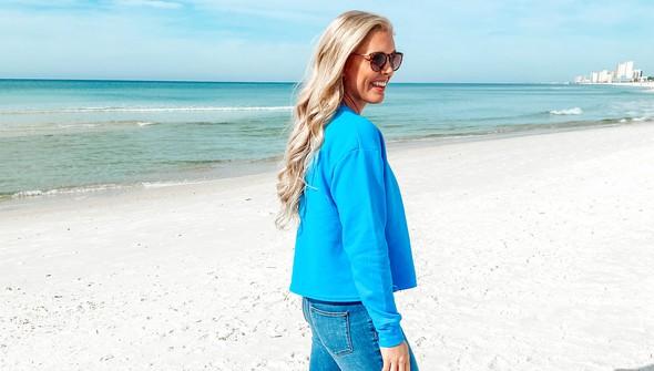 129078 pocket full of sunshine pocket slouch sweatshirt women 30a blue slider4 original
