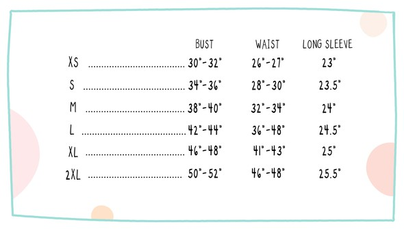 Hoodie pullover size chart original