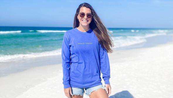 154117  simple beach happy comfort colors long sleeve tee wome flo blue slider1 original
