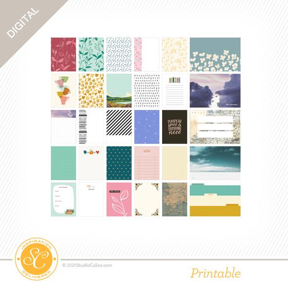 Ns118572 digital bookworm journal cards b side preview original