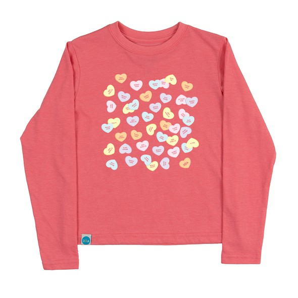 129296 conversation hearts long sleeve tee kids melon original
